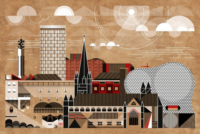 We Love Brumhaus, And If Youu0027ve Not Yet Seen His Awe Inspiring, Architectural  Graphic Designs Celebrating The Birmingham Skyline (and The Buildings That  ...